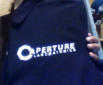 Aperture Science Polo Shirt by silverstardust16