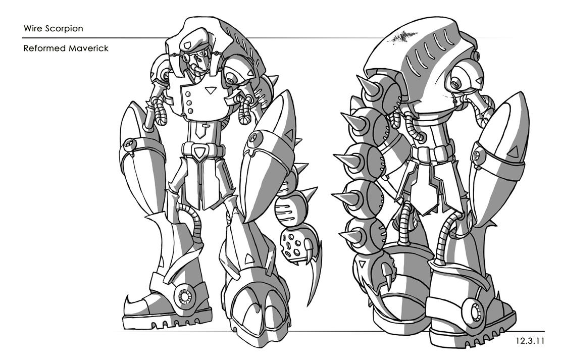 Line Drawing No Shading : Wire scorpion line art and shading by azroix on deviantart