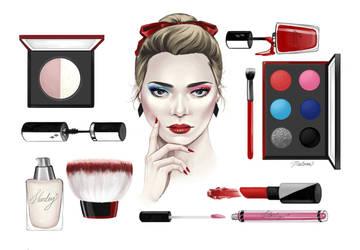 Harley Quinn Cosmetics by MalbonDesigns