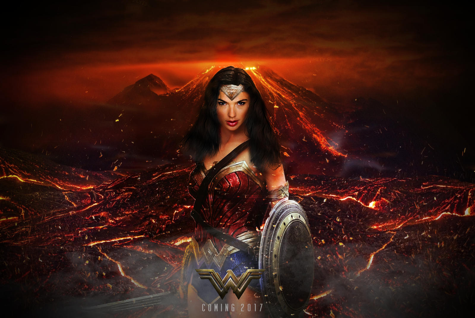 Wallpaper Wonder Woman 2017 Movies 6723: Wonder Woman (2017) Teaser Poster By Cameronrobertson On