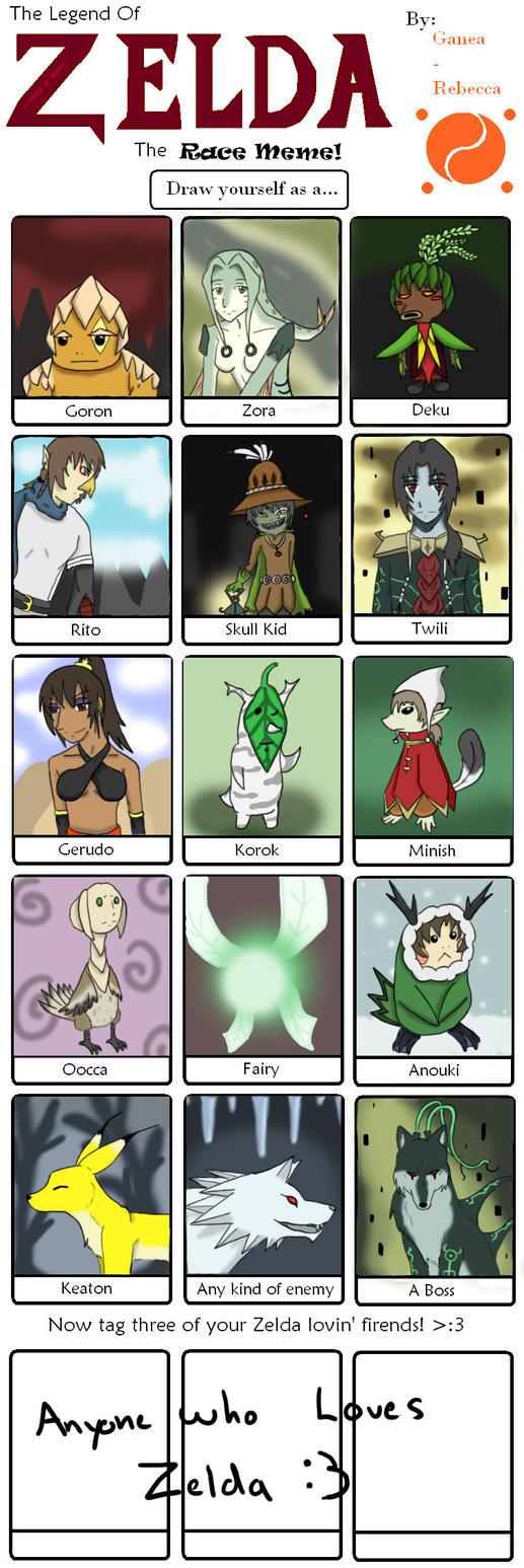 Zelda Race Meme by Silver-Fenril