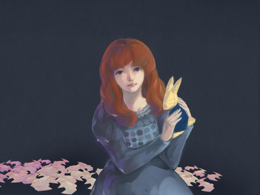 River And Her Origami Rabbits By VSOrange
