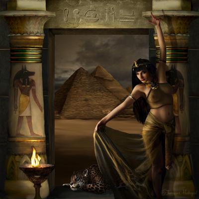 Bastet by tammara on deviantart for 3d wallpaper for home egypt