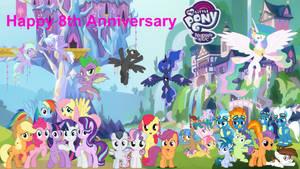 Happy 8th Anniversary MLP: FiM by JawsandGumballFan24