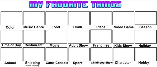 My Favorite Things Meme Template (My Version)