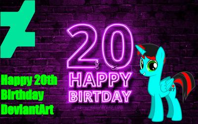 Happy 20th Birthday DeviantArt