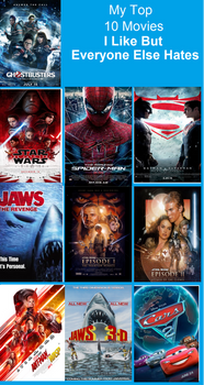My Top 10 Movies I Like But Everyone Else Hates