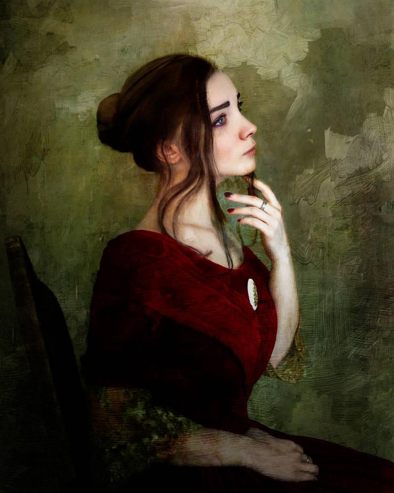 Girl In a Red Velvet Dress