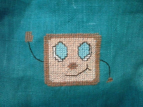 Tiny Box Tim cross stitch