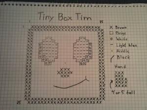 Tiny Box Tim cross stitch pattern