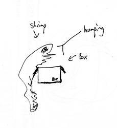 shrimp humping a box by Obsidian133