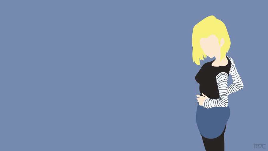 dragon ball android 18 wallpaper by rendracula on deviantart