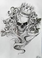 tattoo - skull by aqata16