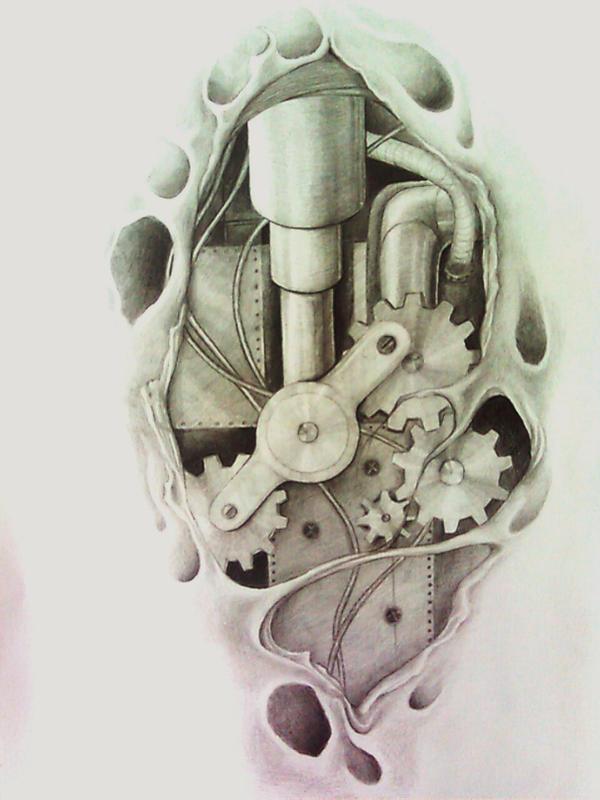biomechanical tattoo by aqata16Biomechanical Gears Drawings
