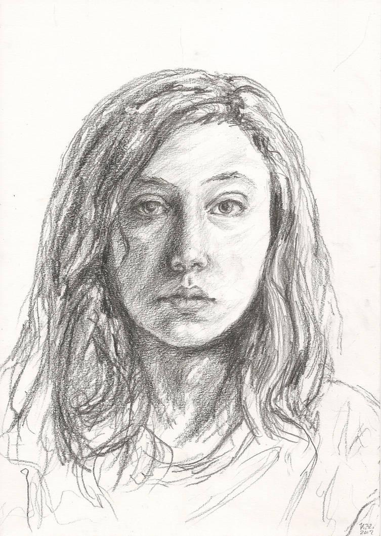 Self portrait in pencil by yasmin88 on deviantart