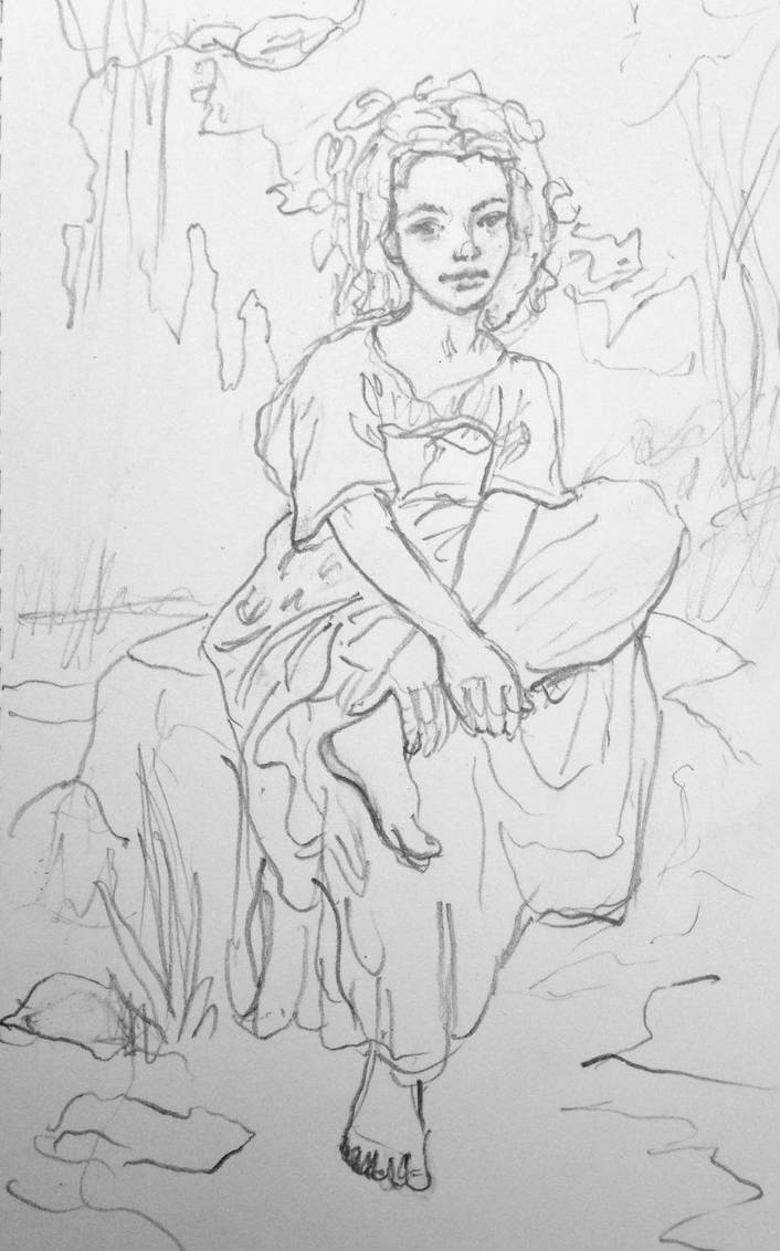 Small pencil sketch study after bouguereau by yasmin88