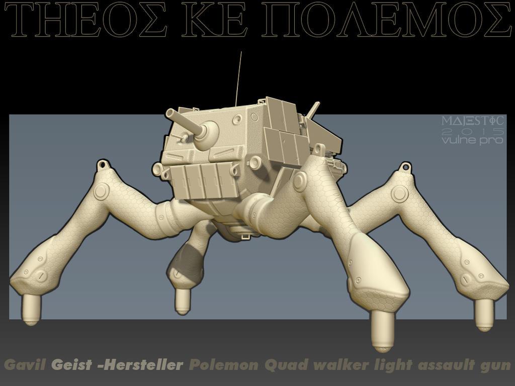 Gavil Geist-Hersteller Zbrush Box art style by VulnePro