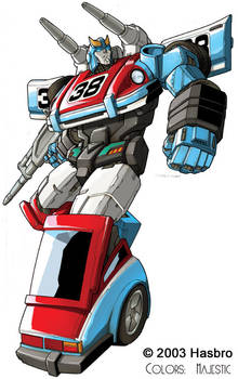Transformers Smokescreen bot