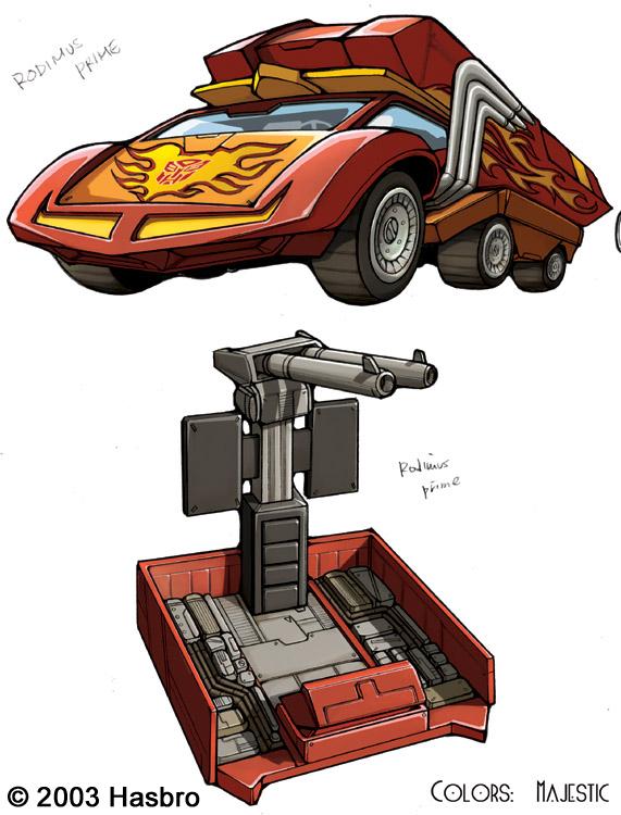 Transformers Rodimus Prime Car