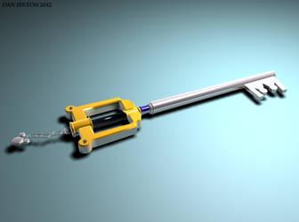 Kingdom Key keyblade by thebrokenminor