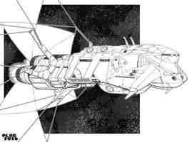 Battletech - Liberator Class Cruiser. by sharlin