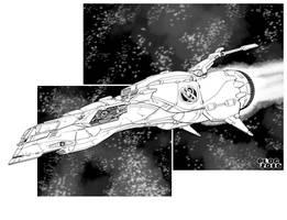 Essex Class Destroyer by sharlin