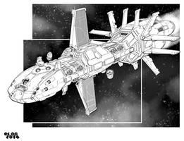 Battletech - McKenna (Flight II) Class Battleship by sharlin