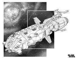 Battletech - Fearless Class Assault Ship. by sharlin