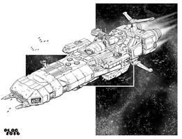 Battletech - Ark Royal Class heavy carrier by sharlin