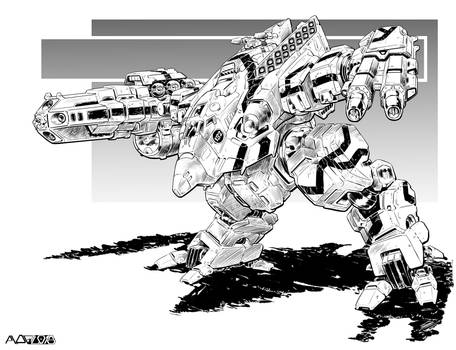 Battletech - Turkina II Assault Mech.