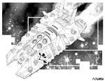 Battletech - Thebes Class Heavy Cruiser (non-canon by sharlin
