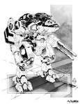 Battletech - Grimnir Heavy OmniMech by sharlin