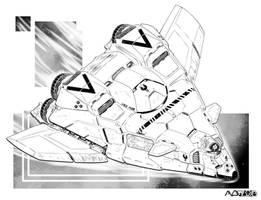 Battletech - Moa heavy shuttle by sharlin