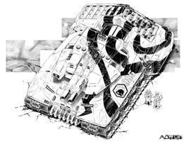 Battletech - Kratos Assault tank by sharlin