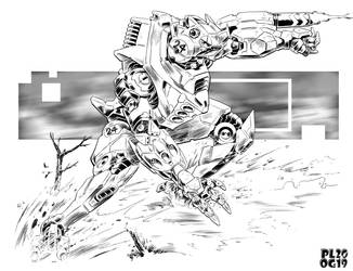 Battletech - Dusk Runner light OmniMech. by sharlin