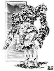Battletech - Thunderhound Heavy OmniMech by sharlin