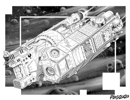 Battletech - Galleon class Super Freighter.