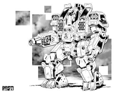Battletech - Hyperion Assault Mech.
