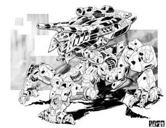 Battletech - Lucanus Heavy Mech.
