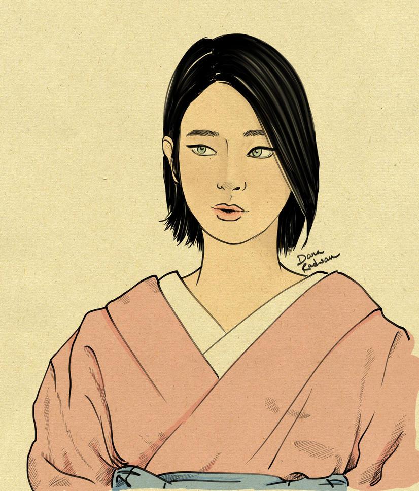 Girl in Kimono by FanOfSherlock