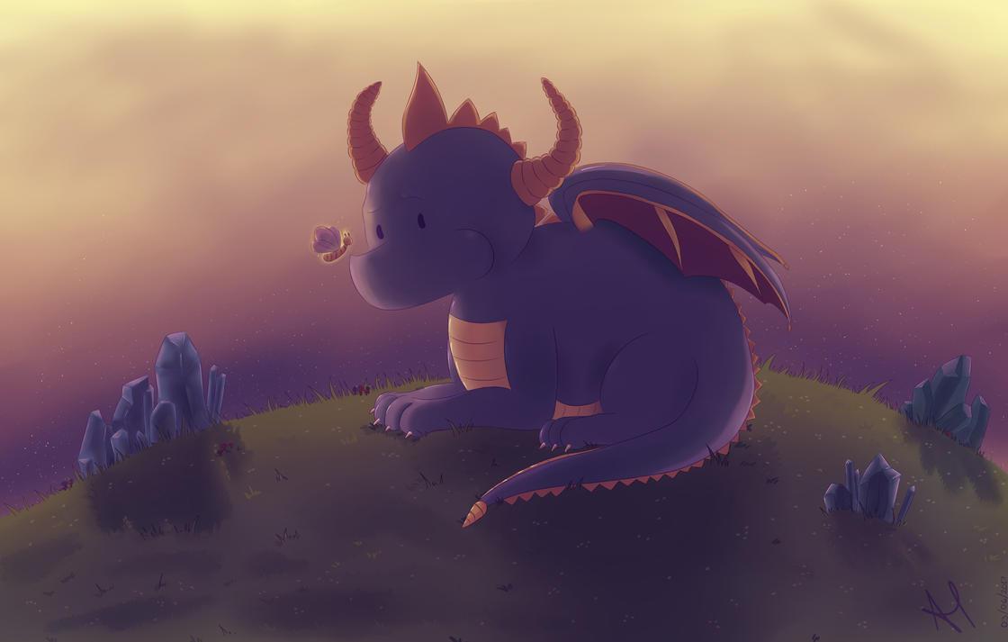 Chibi Spyro by AriClaus