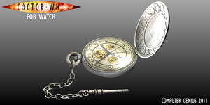 Doctor Who Fob Watch-Open