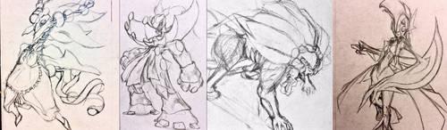 Sketchtember Cultists Batch 1 by Falgaia
