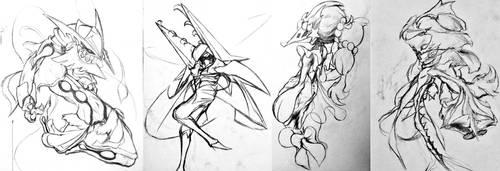 Sketchtember Cultists Batch 5 by Falgaia