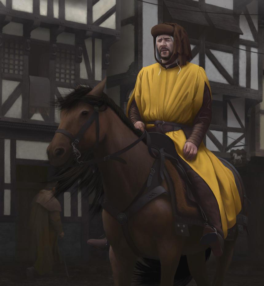 Medieval Merchant by cerkvenik