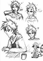 Gaara Sketches by Celadoria