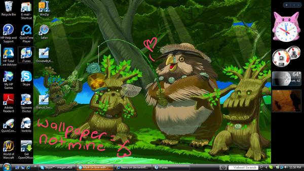 My desktop - art is not mine by Neiru