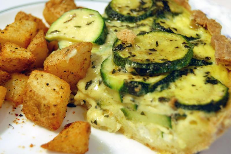 Feta Zucchini Tart by `feetpeet on deviantART