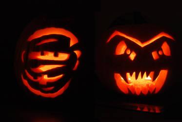 Halloween Pumpkins by feetpeet