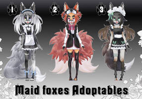 Maid foxes Adoptables [OPEN] by Dracsik